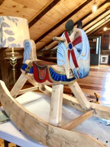fine art antique rocking horse restoration